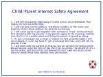 child parent internet safety agreement