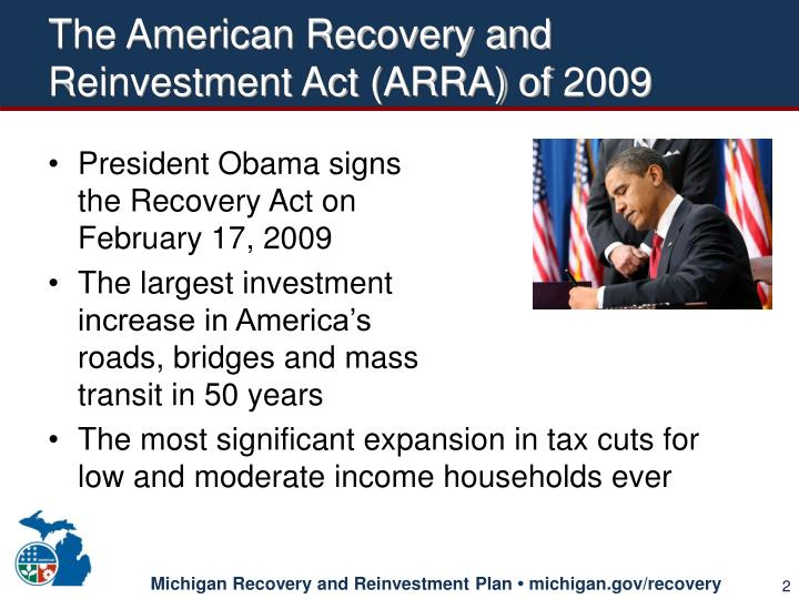 The american recovery and reinvestment act arra of 2009