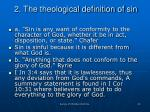 2 the theological definition of sin