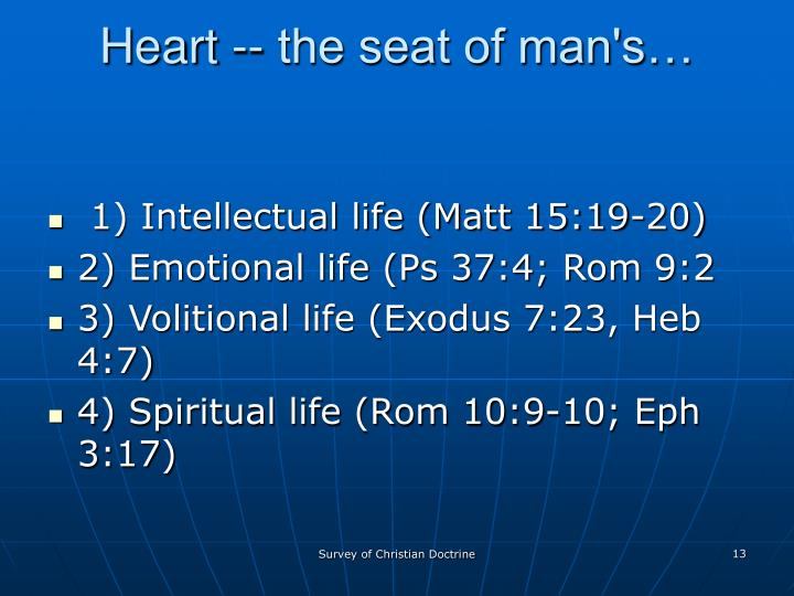 Heart -- the seat of man's…