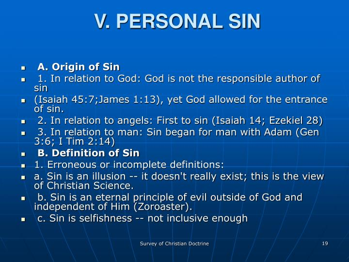 V. PERSONAL SIN