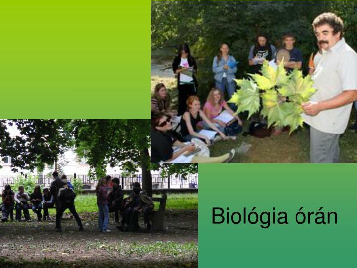Biológia órán