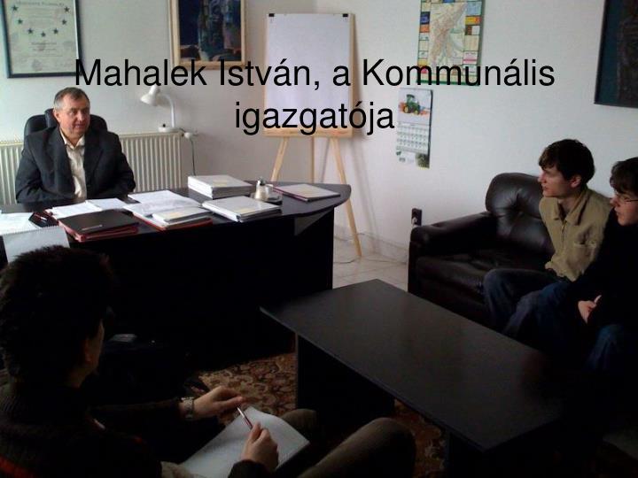 Mahalek István, a Kommunális igazgatója