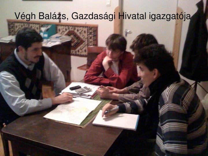 Végh Balázs, Gazdasági Hivatal igazgatója