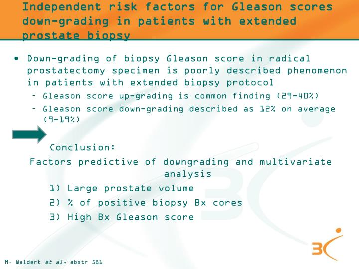Independent risk factors for Gleason scores down-grading in patients with extended prostate biopsy