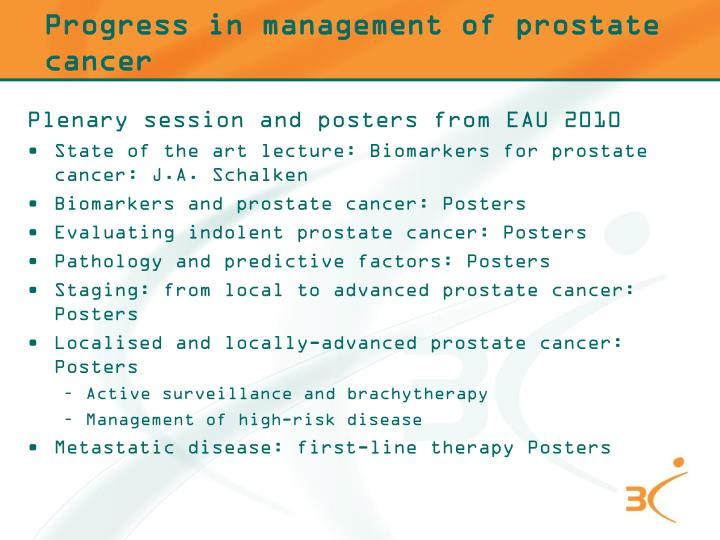 Progress in management of prostate cancer1