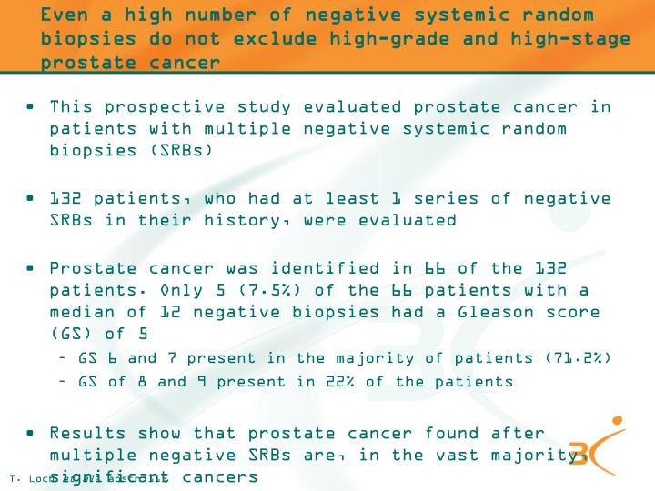 Even a high number of negative systemic random biopsies do not exclude high-grade and high-stage prostate cancer