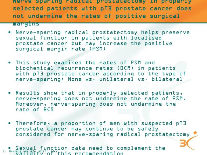 Nerve sparing radical prostatectomy in properly selected patients with pT3 prostate cancer does not undermine the rates of positive surgical margins