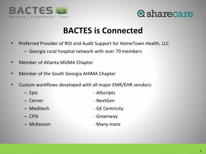 BACTES is Connected