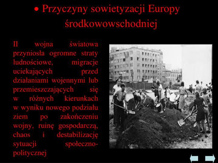Przyczyny sowietyzacji Europy środkowowschodniej