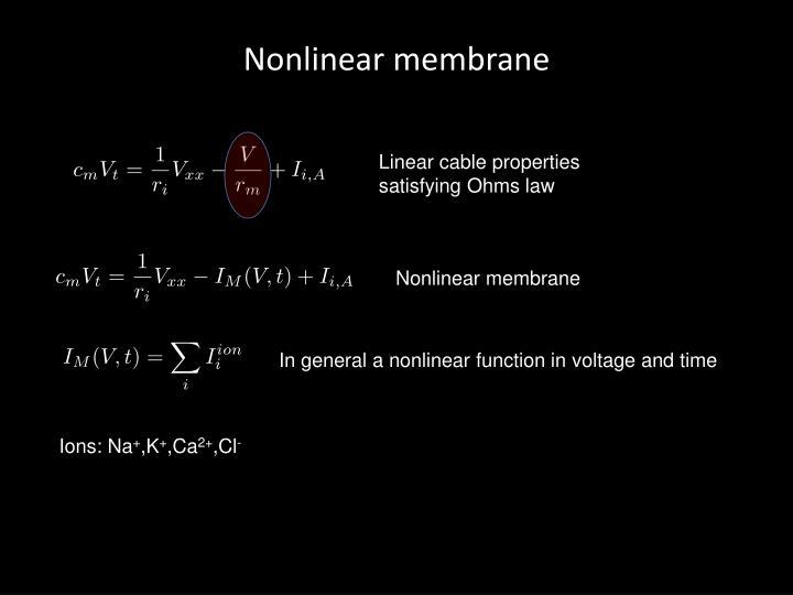 Nonlinear membrane