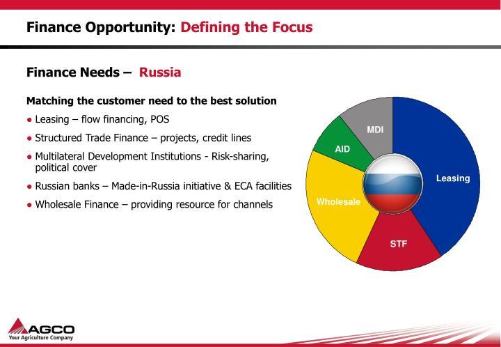 Finance Opportunity: