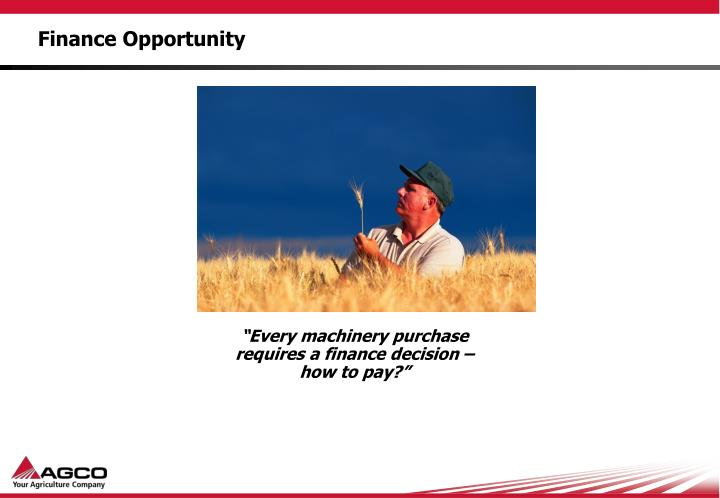 Finance Opportunity