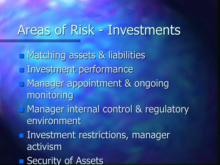 Areas of Risk - Investments