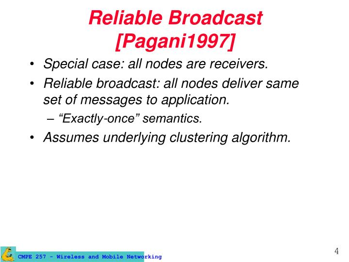 Reliable Broadcast [Pagani1997]