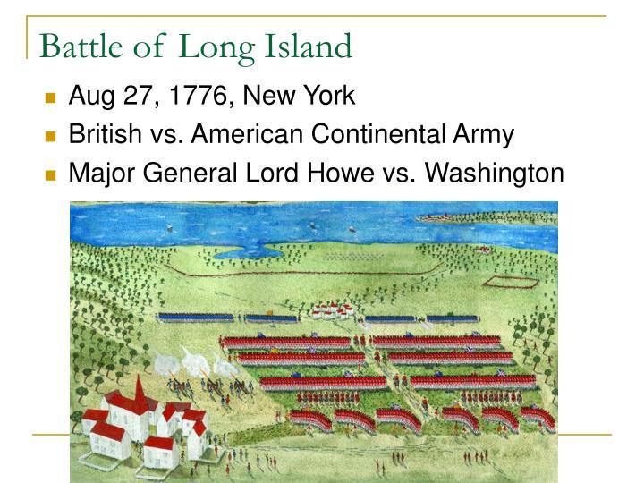 Battle Lord Howe Long Island
