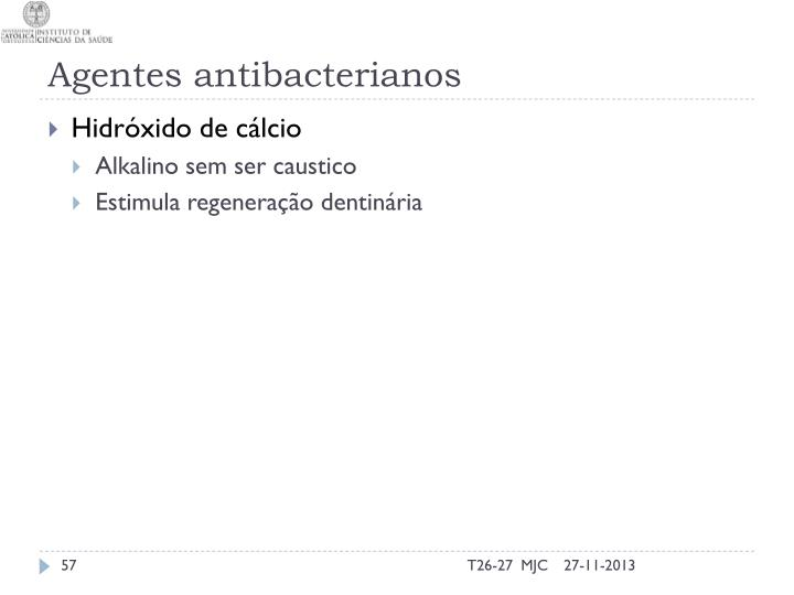 Agentes antibacterianos