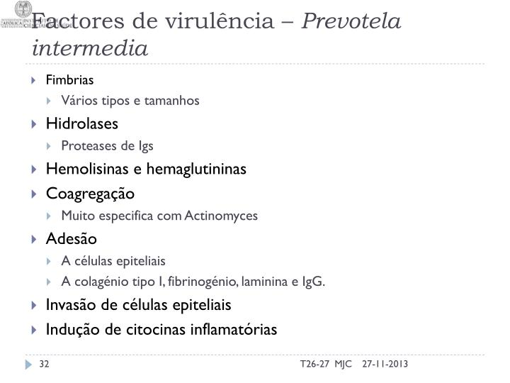 Factores de virulência –