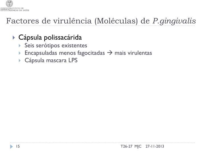 Factores de virulência (Moléculas) de