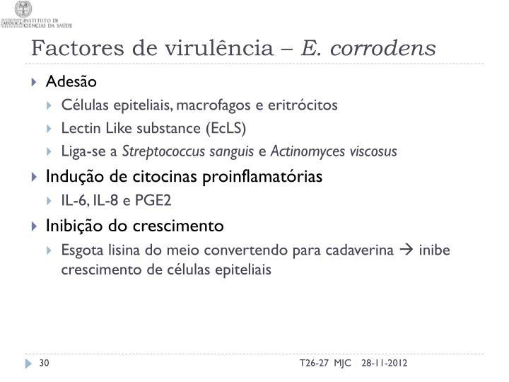Factores de virulência –