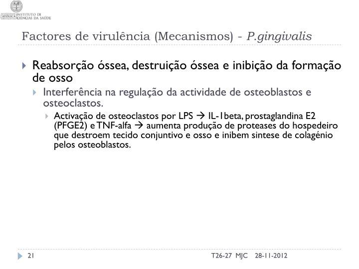 Factores de virulência (Mecanismos) -