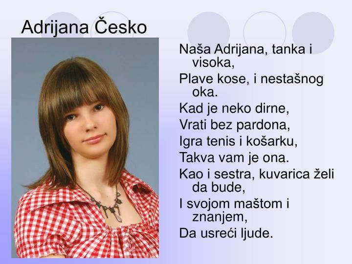 Adrijana Česko