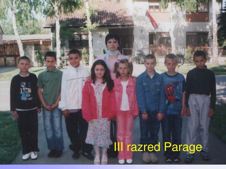 III razred Parage