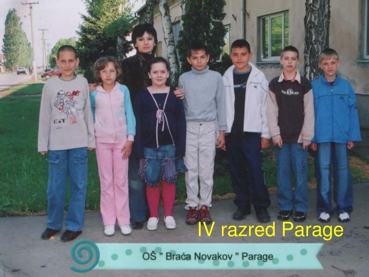 IV razred Parage