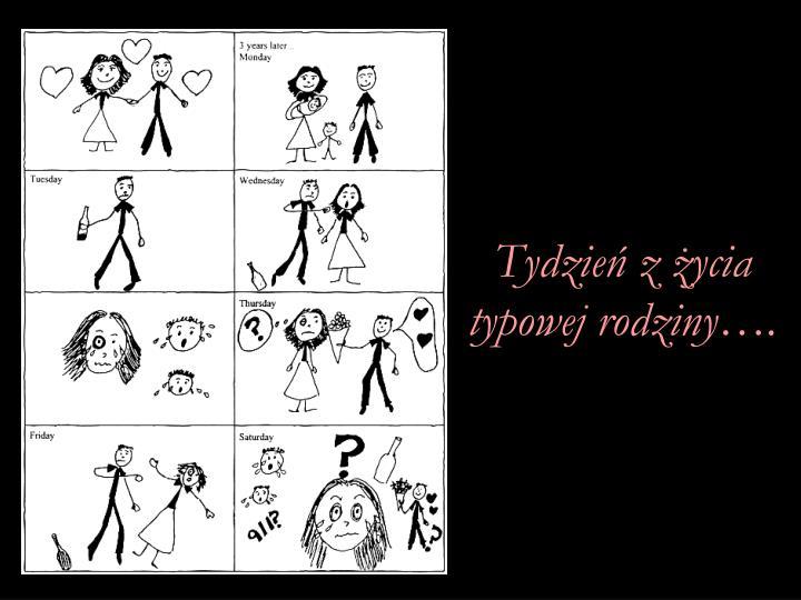 Tydzień z życia typowej rodziny….