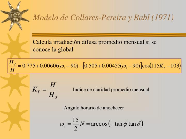 Modelo de Collares-Pereira y Rabl (1971)