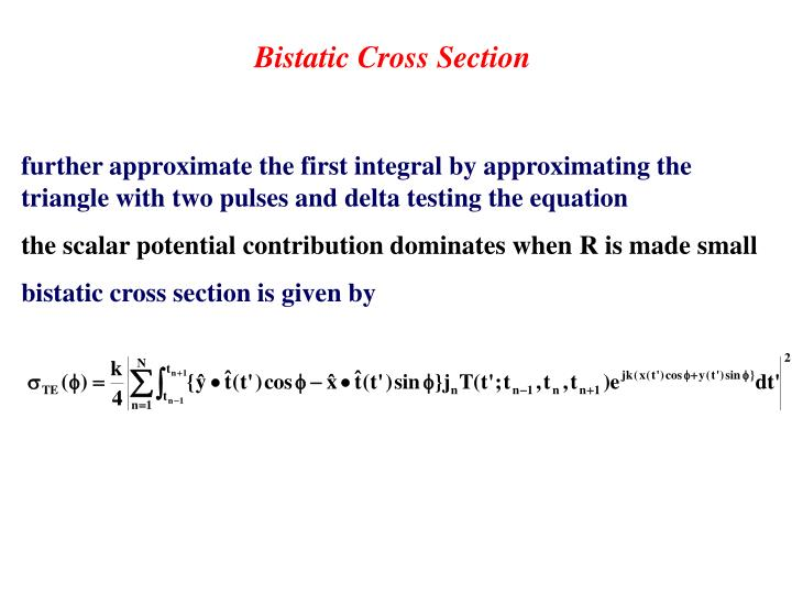 Bistatic Cross Section