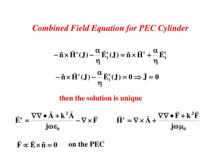 Combined Field Equation for PEC Cylinder