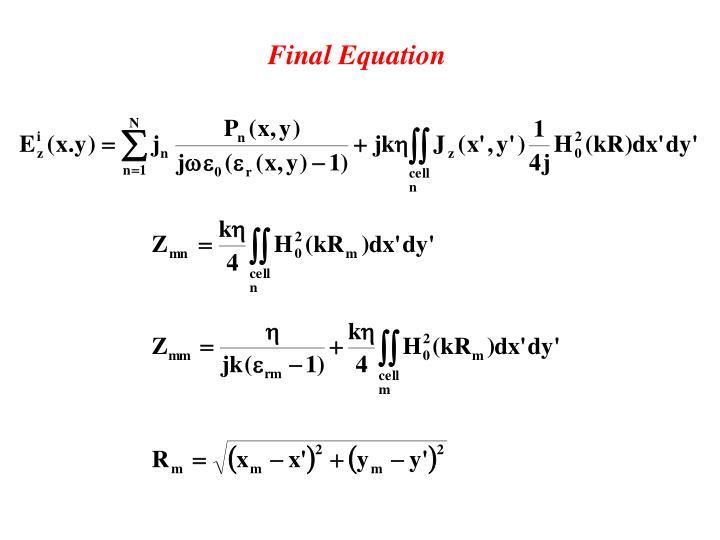 Final Equation
