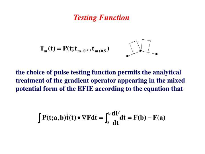 Testing Function