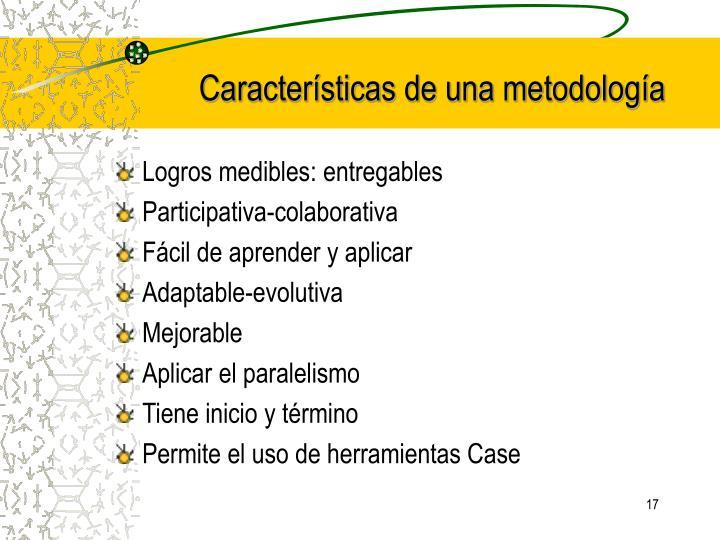 Características de una metodología
