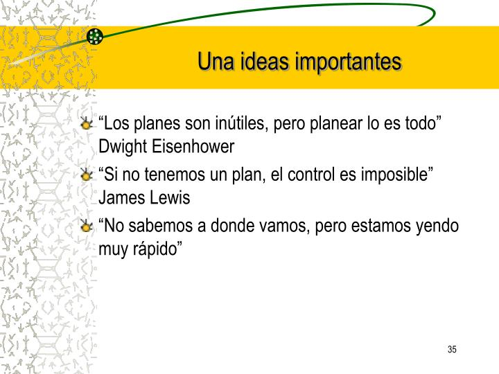 Una ideas importantes