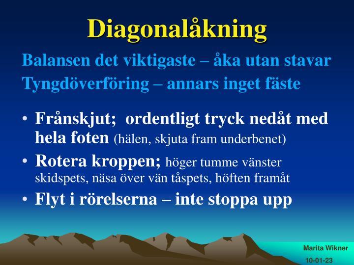Diagonalåkning
