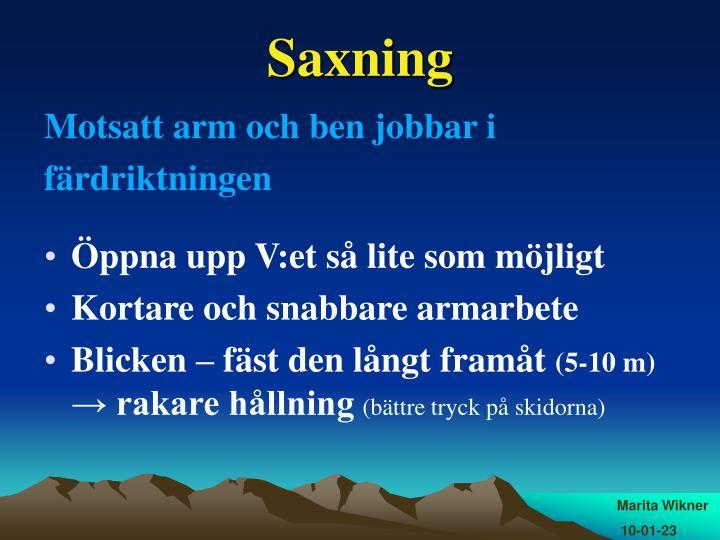 Saxning