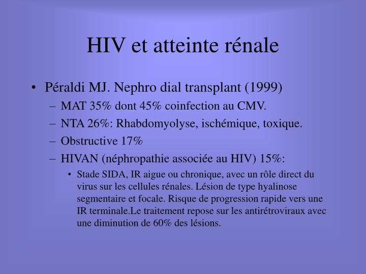 HIV et atteinte rénale