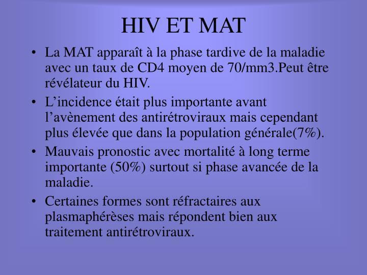 HIV ET MAT