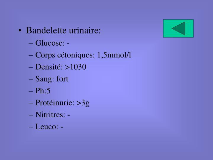 Bandelette urinaire: