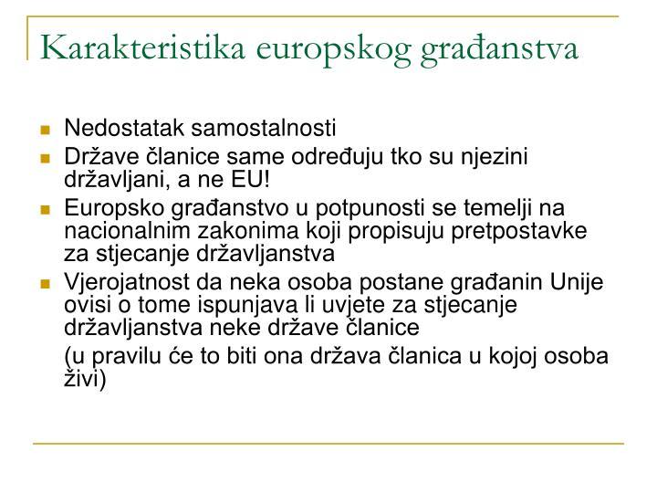 Karakteristika europskog građanstva