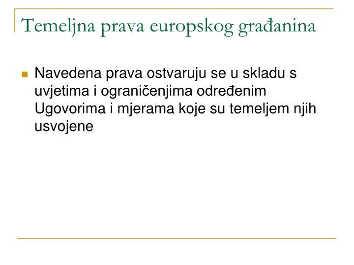 Temeljna prava europskog građanina