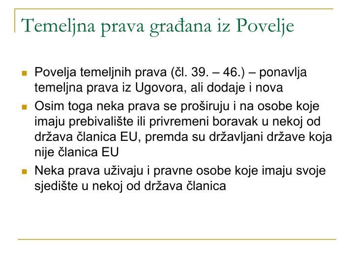 Temeljna prava građana iz Povelje