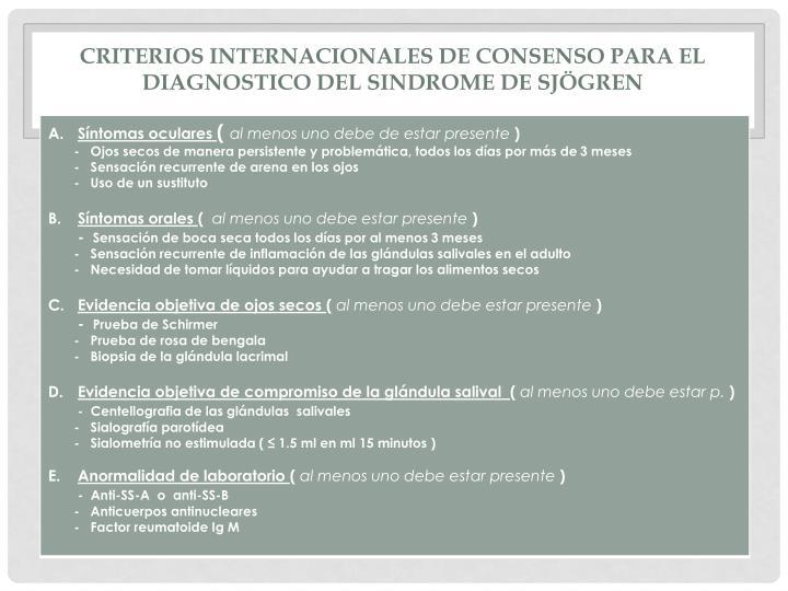 Criterios internacionales de consenso para el diagnostico del