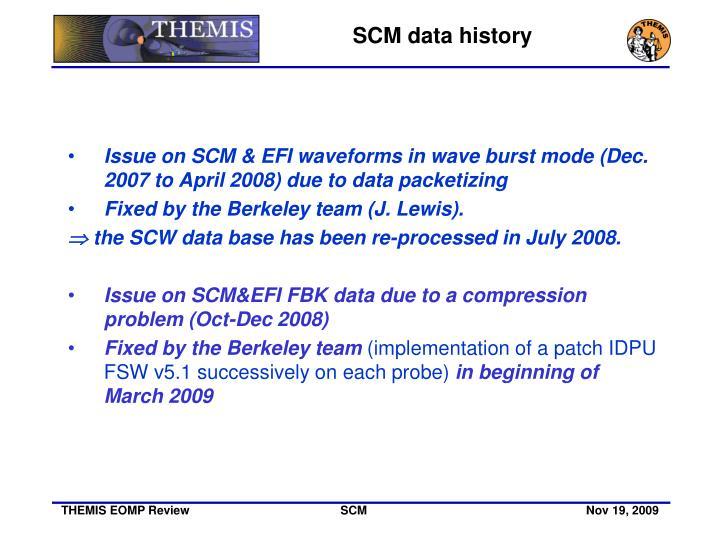 SCM data history