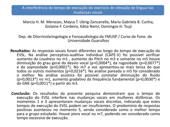 Marcia H. M. Menezes, Maysa T.