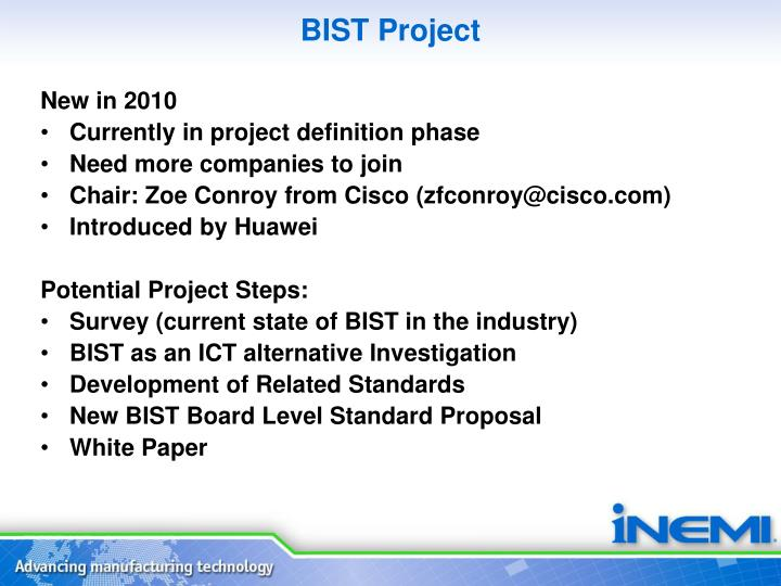 BIST Project