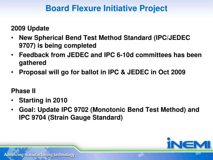 Board Flexure Initiative Project