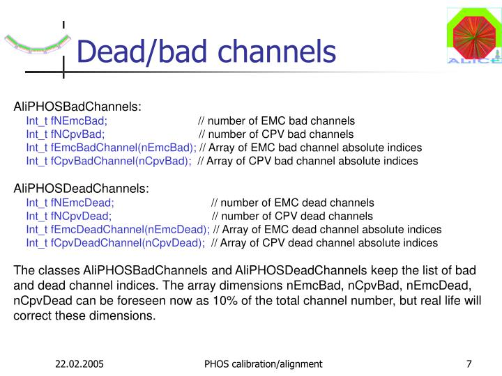 Dead/bad channels
